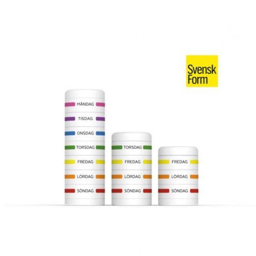 Tack vare sin omsorgsfulla design kunde Curebits 2014 delta i designtävlingen Svensk Form där den nominerades till att bedömas av den internationella juryn som 50 av 3000 bidrag.